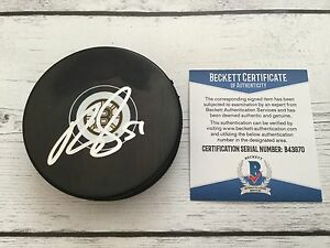Ryan Spooner Signed Boston Bruins Hockey Puck Beckett BAS COA Autographed a