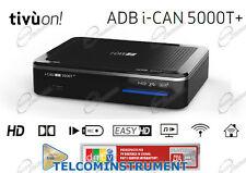 Decoder ADB I-CAN 5000T TV Terrestre HD DVB-T2 HEVC Tivùon e PVR Wi-Fi