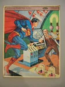 Vintage 1965 Silver Age Whitman 4511 Superman vs Mad Scientist Frame Tray Puzzle