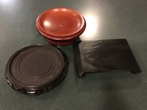 3 Wood Trays for Candles, Display Trays