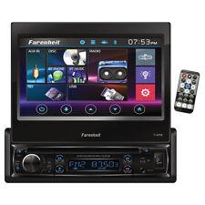 "Power Acoustik TI895B Farenheit Single Din 7"" Flip Out Touchscreen With DVD & Bt"