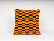 Cushion Made Of London Transport  District Line Moquette By Misha Black