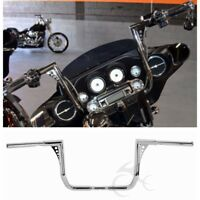 """Chrome 1.25"""" 14"""" Rise Ape Hanger Handlebar Fit For Harley FLHT FLHTC Baggers 82+"""