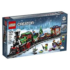 Buildings Playset Train Christmas Winter Holiday Train Lego Creator Expert 10254
