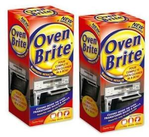 OVEN BRITE CLEANING KIT OVEN RACKS GRILLS LIQUID GLOVES BAG DEGREASER KITCHEN