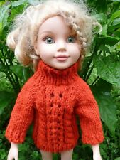 Handmade knit Cute Doll Sweater