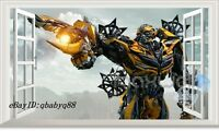 Large Transformer Bumblebee 3D Window Wall Decals Removable Sticker Kids Art-1
