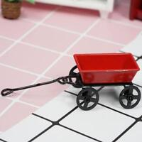 1:12 Dollhouse Miniature Mini Red Iron Little Cart Nice Gift Low Price