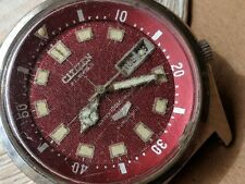 Vintage Citizen Seven Star Day-Date Divers Watch w/Pristine Dial,Massive SS Case
