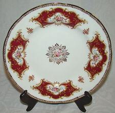 """Vintage Paragon China ENGLAND 8 1/4"""" Dish Plate Maroon Burgandy Gold Pastels"""