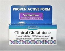 CLINICAL GLUTATHIONE 60 SLOW MELT TABS 300mg ANTIOXIDANT EuroMedica