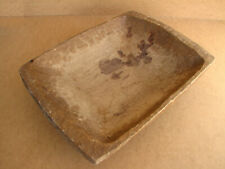 Old Antique Primitive Wooden Wood Bread Bowl Dough Plate Tray Salver Rustic 19th