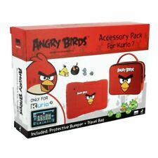 Meroncourt Kurio 7 Angry Birds Protective Skin Bumper and Travel Pack - Red