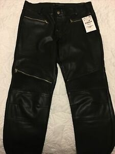 Zara faux Leather Biker Jeans