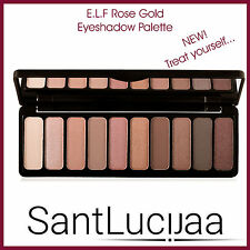 E.L.F ELF ROSE ORO Eyeshadow Palette-Marrone Rose Rosa Glitter cotta marrone