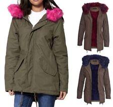 Unbranded Faux Fur Cotton Coats & Jackets for Women