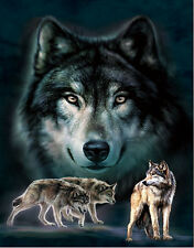 Wolf Love Lenticular 3D Picture Animal Poster Painting Home Decor Wall Art Decor