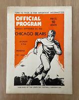 VINTAGE 1933 NFL CHICAGO BEARS @ GREEN BAY PACKERS FOOTBALL PROGRAM - LAMBEAU