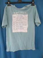 Rebel Active 100% Dude Blue T-Shirt with logo - Used - Size 12/13 yrs - 158cm