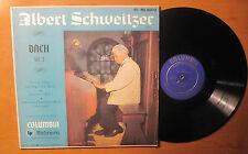 "LP ALBERT SCHWEITZER ""BACH Vol. 1"" ORIGINAL COLUMBIA ML-4600 Blue Label"