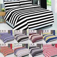 Stripe Check Floral Duvet Covet Set, Cotton Bedding Set Quilt Cover All Size 4PC