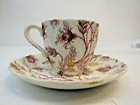 VTG Spode Copeland Rosebud Chintz Tea Cup & Saucer England