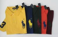 NWT Ralph Lauren Mens SS Classic FIT Big Pony Mesh Polo Shirt S M L XL 2XL NEW