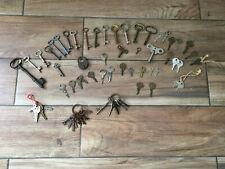 Lot of Antique Vintage Skeleton Barrel Furniture Clock Car Keys 64pcs