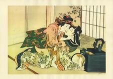 Japanese Reproduction Woodblock Print Shunga Style 1# Erotic  A4 Parchment Paper