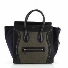 Celine Tricolor Luggage Bag Felt Mini