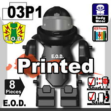 Black EOD bomb suit (W279) Vest compatible with toy brick minifigures police