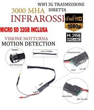 Spy Camera Spia WIFI HD NIGHT VISION MOTION DETECTION TELECAMERA + SD 32GB CW151