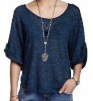 Free People Beach Blue Women's Size xs Dolman-sleeve Nani Knit Top