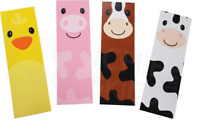 Pack of 12 - Farm Animals Yard Bookmarks Double sided Animal Party Bag Fillers