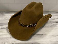 Serratelli Cowboy Hat Mens Brown Wool Size Medium