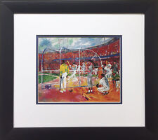 "LeRoy Neiman ""Bay Area Baseball"" FRAMED ART Giants A's Ted Williams Willie Mays"