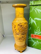 Vintage Natural bamboo vase, made in the people's of China