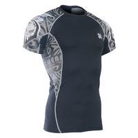 FIXGEAR C2S_B43 Skin-tight Compression shirt Base layer Gym Training MMA S-4XL