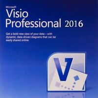 * 1PC - Official Microsoft Visio Professional 2016 Key 32/64bit + Download Link!