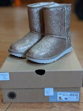 UGG Classic Short Glitter Gold Boots In Various Sizes Brand New In Box