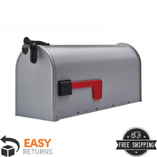Hand-Fabricated and USPS Certified White Post Mount Mailbox Bristol 21 x 8