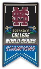 2021 NCAA Mississippi État Collège World Série Champions Broche Bulldogs Champs