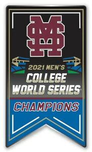 2021 NCAA MISSISSIPPI STATE COLLEGE WORLD SERIES CHAMPIONS PIN BULLDOGS CHAMPS!!
