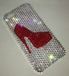 High Heel Shoe Crystal BLING CASE FOR IPHONE 8s 8 Made With SWAROVSKI ELEMENTS