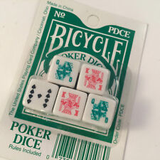 Poker Dice Set Bicycle New Sealed Game Fast Shipping Worldwide!