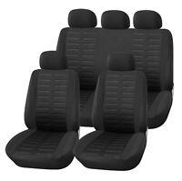 Komplettset Sitzbezüge Schwarz Schonbezüge Polyester für