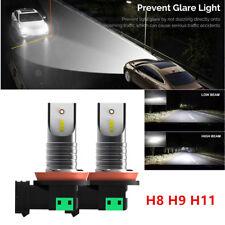 2PCS CSP H8 H9 H11 SUV Car Truck LED Headlight Lamp Bulb 55W 30000LM 6000K White