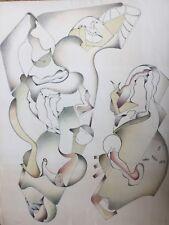 Jan VOSS né en 1936.Les masques.1979.Lithographie.SBD.32x250.50x65.