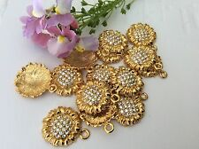 Pendants Vintage Jewellery componentst Drops Crystal rhinestone 16mm X3 CRAFT