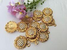 Ciondoli vintage gioielli componentst gocce di cristallo strass 16mm x3 Craft